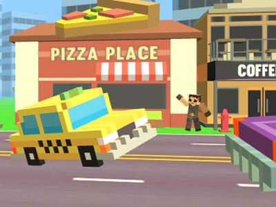 Pixel Road: Taxi Depot
